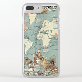 The British Empire 1886 Clear iPhone Case
