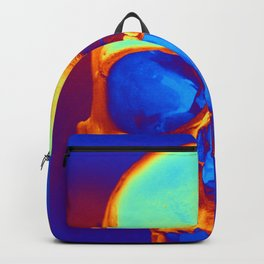 Skull in blue and gold Backpack