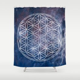 Sacred Geometry Universe 5 Shower Curtain