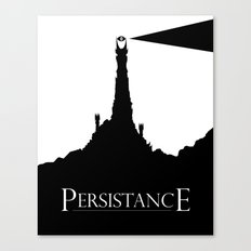Lord of the Rings Motivational Poster - Persistance Canvas Print