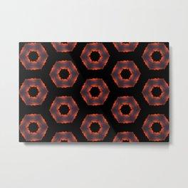 Fiery Red & Orange Circles Metal Print