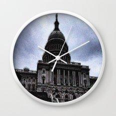 Storm over Capitol Wall Clock