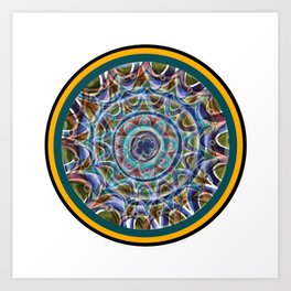 Free Hand Mandala in Circles Art Print