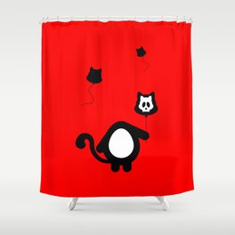 Don't Lose Your Head Cat! Shower Curtain
