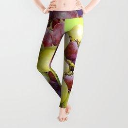 PURPLE & GREEN GRAPES VINEYARD PURPLE DESIGN Leggings