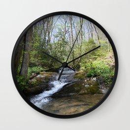 mountain stream in May Wall Clock