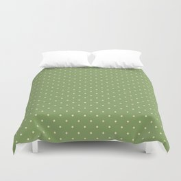 Green and yellow pattern with rhombs Duvet Cover