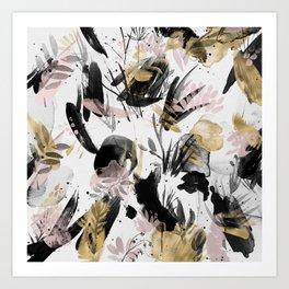 Wabi Sabi Brush Strokes Abstract Painting Art Print