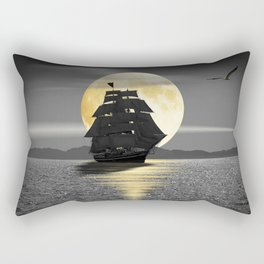 A ship with black sails Rectangular Pillow