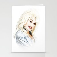 dolly parton Stationery Cards featuring Dolly Parton - Pop Art by William Cuccio aka WCSmack