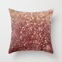 Cafe Au Lait Glitter #1 #shiny #decor #art #society6 Throw Pillow