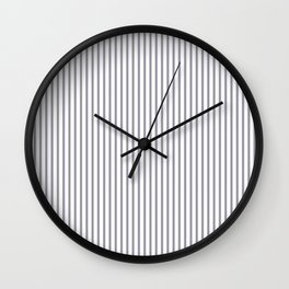 Lilac Gray Stripes Wall Clock