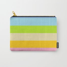 Retro Vintage Inspired Simple Colored Stripes - Pastels Carry-All Pouch