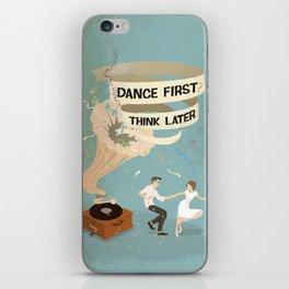 Gramophone couple swing dance iPhone Skin