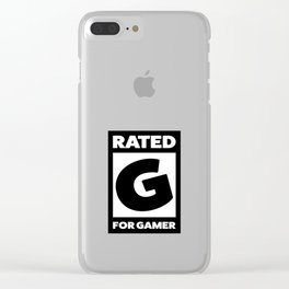 Rated G for gamer Clear iPhone Case