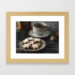 Cofee and Cookies III Framed Art Print