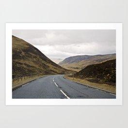 Highway @ Cairngorms, Scotland Art Print