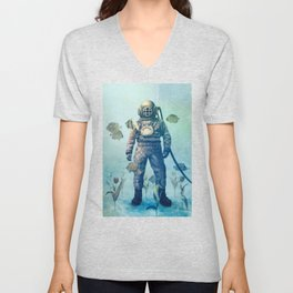 Deep Sea Garden  Unisex V-Neck