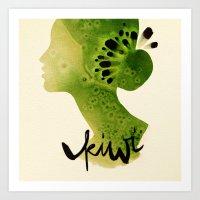 kiwi Art Prints featuring Kiwi by Ekaterina Koroleva