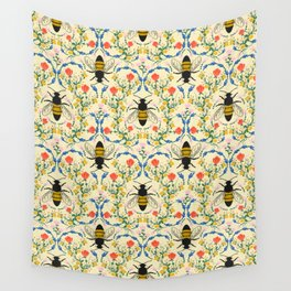 Bee Garden - Cream Wall Tapestry