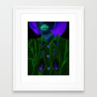 knit Framed Art Prints featuring Knit by Milena Deneno