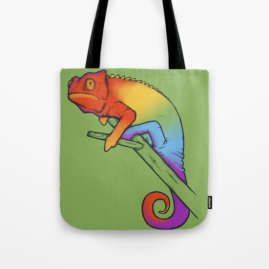 Confused chameleon Tote Bag