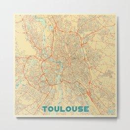 Toulouse Map Retro Metal Print