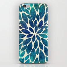 Petal Burst - Turquoise iPhone Skin