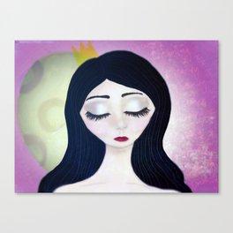 Moon Face Canvas Print