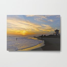 Sunset ~ Huntington Beach CA   Metal Print