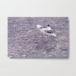 Paddling in a dark river Metal Print