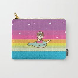 Admiral Whiskers Magical Narwhal Ride Carry-All Pouch