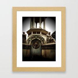 zoo fountain Framed Art Print