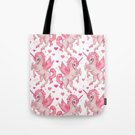 Pink Unicorn Pegasus Tote Bag