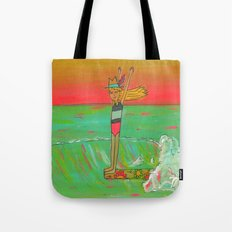 Hang 10 Lady Slider Surfer Girl Tote Bag