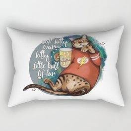 Soft kitty warm kitty little ball of fur galaxy cat Rectangular Pillow