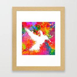 Hummingsplat - Colorless Framed Art Print