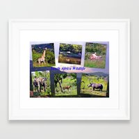 south africa Framed Art Prints featuring South Africa Wildlife by Art-Motiva