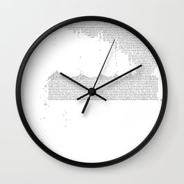 Erosion & Typography 3 Wall Clock