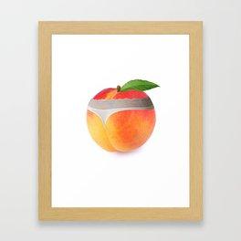 Peach booty Framed Art Print