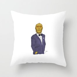 C3PO be classy in RGB Throw Pillow