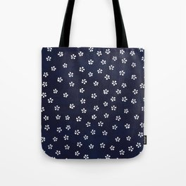 Indigo blue with white flowers Tote Bag