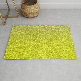 Marble brick, loft, gradient, yellow gradient, fashionable, modern Rug