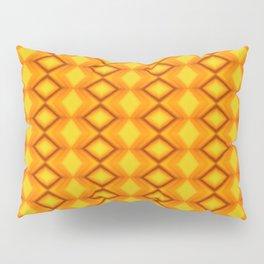 Diamonds II - orange/yellow Pillow Sham