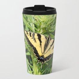 Swallowtail at Rest on Greenery Travel Mug