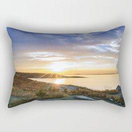 Autumn Sunset at Andrews Point Rectangular Pillow