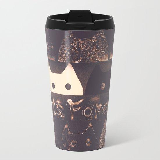 cats-225 Metal Travel Mug