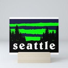 Seattle Outdoor Hiking Pacific Northwest Washington PCT Mini Art Print
