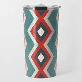 Geometric triangles shapes pastel retro cool colors Travel Mug