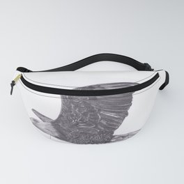 Flying Eagle Pencil Drawing of Bird Fanny Pack